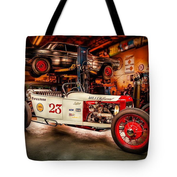 Millers Chop Shop Track T Toyota Tote Bag by Yo Pedro
