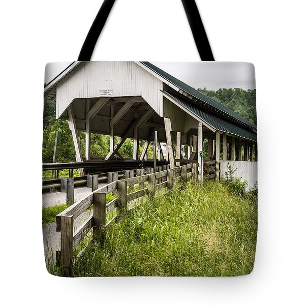 Millers Run Covered Bridge Tote Bag by Edward Fielding