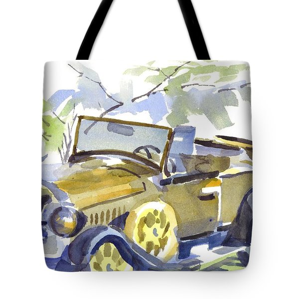 Mimosa Tree With Model A Tote Bag by Kip DeVore