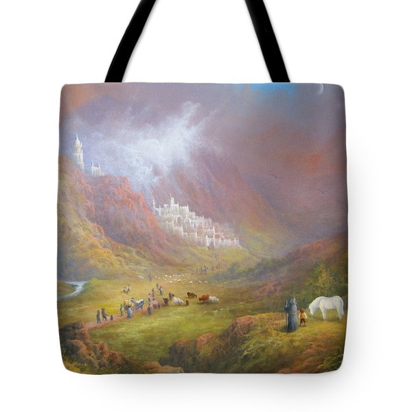 Minas Tirith  War Approaches. Tote Bag by Joe  Gilronan