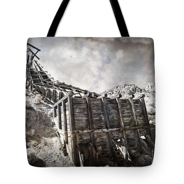 Mine Structure In Silver City Tote Bag by Dianne Phelps