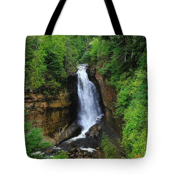 Miners Falls  2 Tote Bag by Rachel Cohen