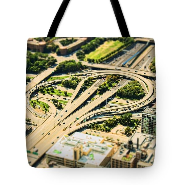 Mini Motorway Tote Bag by Andrew Paranavitana