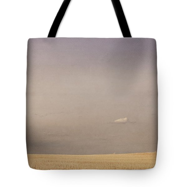 Minimalist Landscape Of A Prairie Grain Tote Bag by Roberta Murray