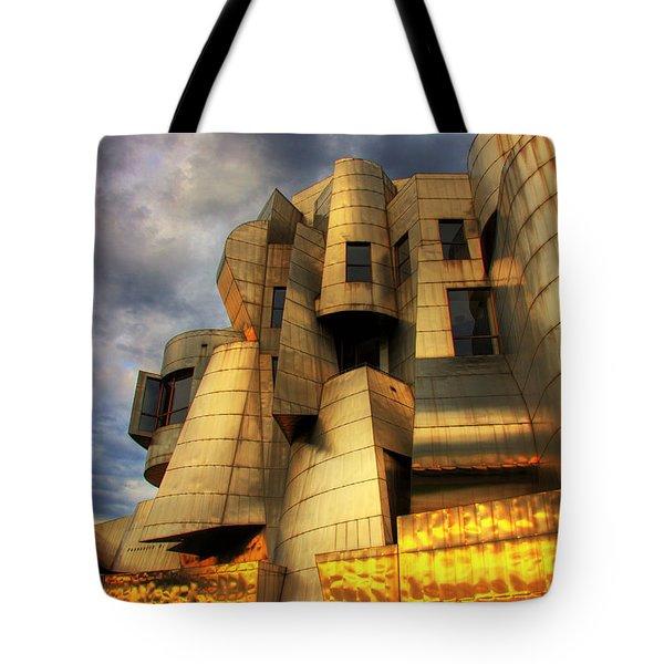 Minneapolis Skyline Photography Weisman Museum Tote Bag by Wayne Moran