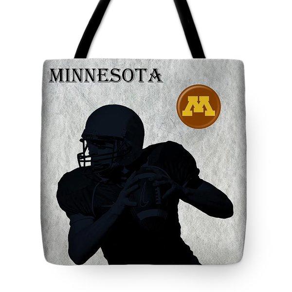 Minnesota Football Tote Bag by David Dehner