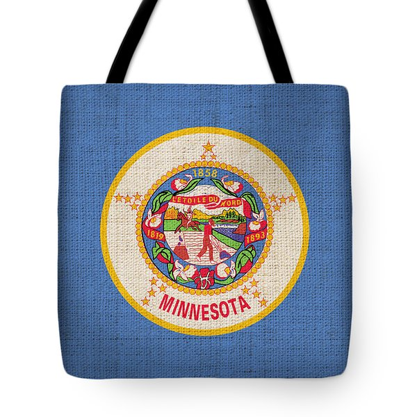Minnesota state flag Tote Bag by Pixel Chimp