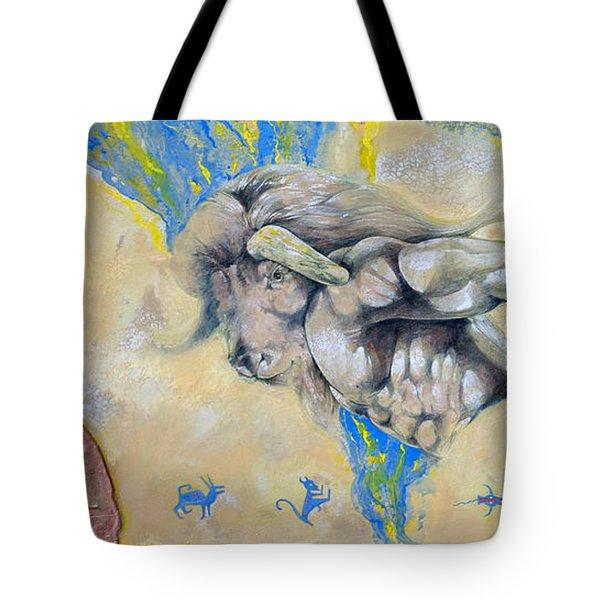 Minotaur Tote Bag by Derrick Higgins