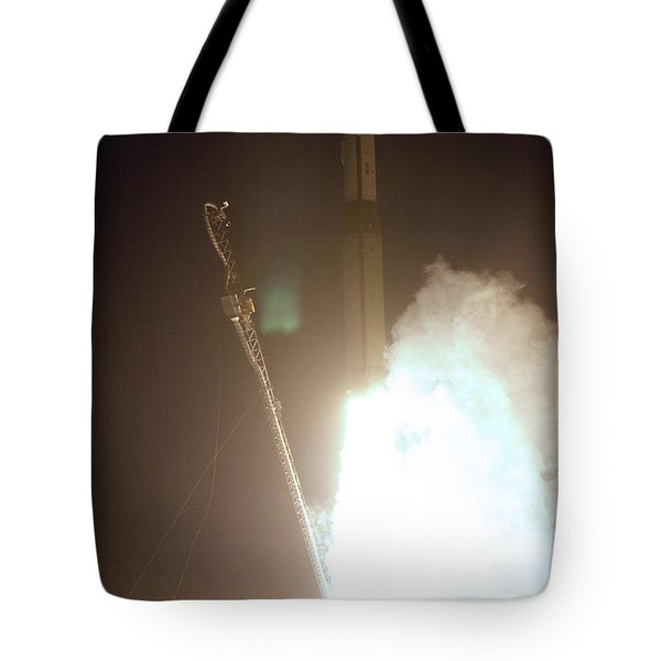 Minotaur Rocket Launch Tote Bag by Science Source