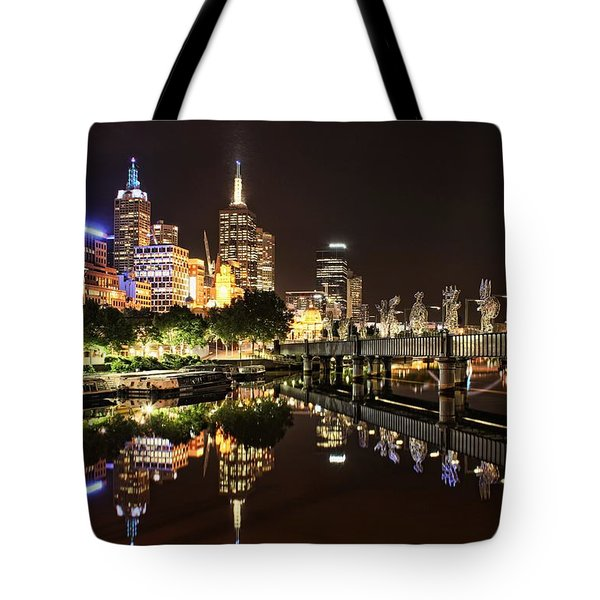 Mirror Image Tote Bag by Andrew Paranavitana