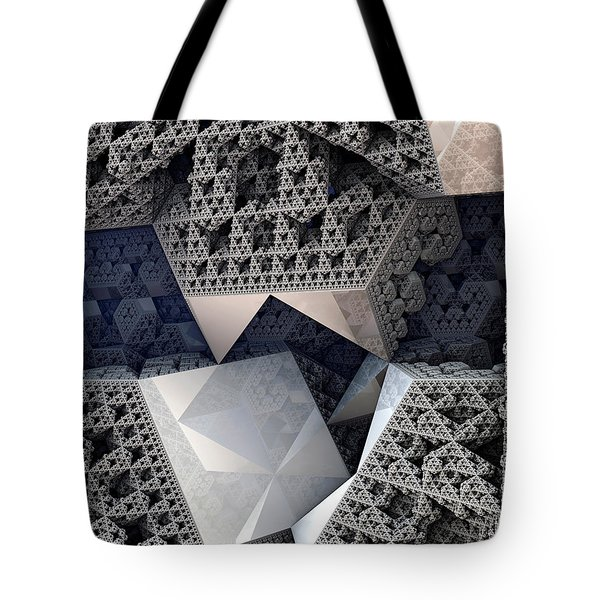 Mirrored Panels Tote Bag by Kevin Trow