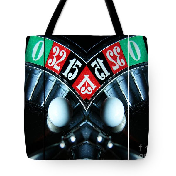 Mirrored Roulette Wheel Triptych Tote Bag by M and L Creations