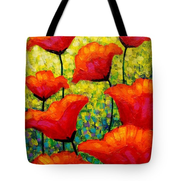 Mischa's Poppies Tote Bag by John  Nolan