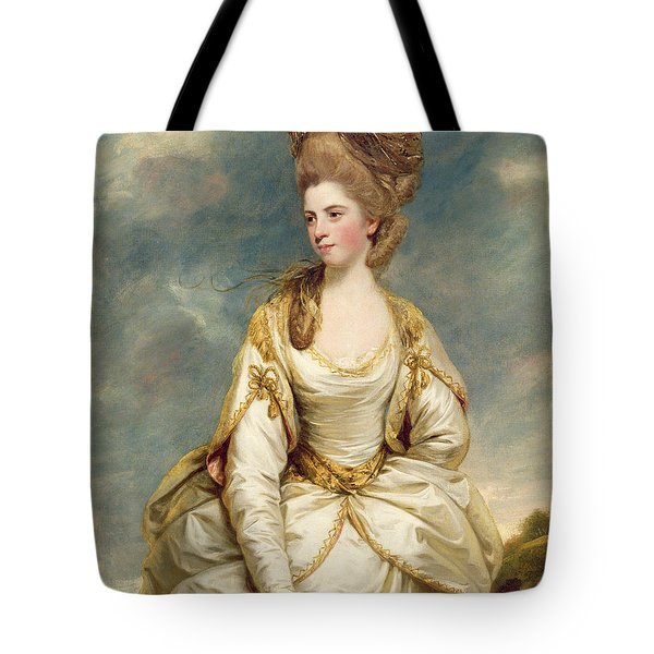 Miss Sarah Campbell Tote Bag by Sir Joshua Reynolds