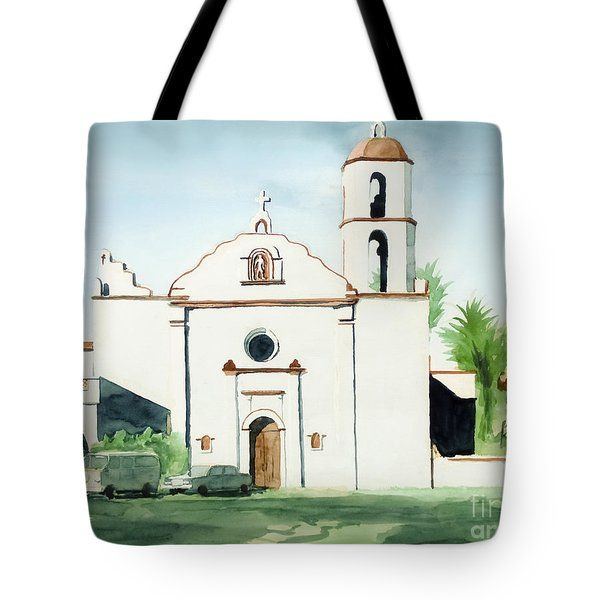Mission San Luis Rey  Tote Bag by Kip DeVore