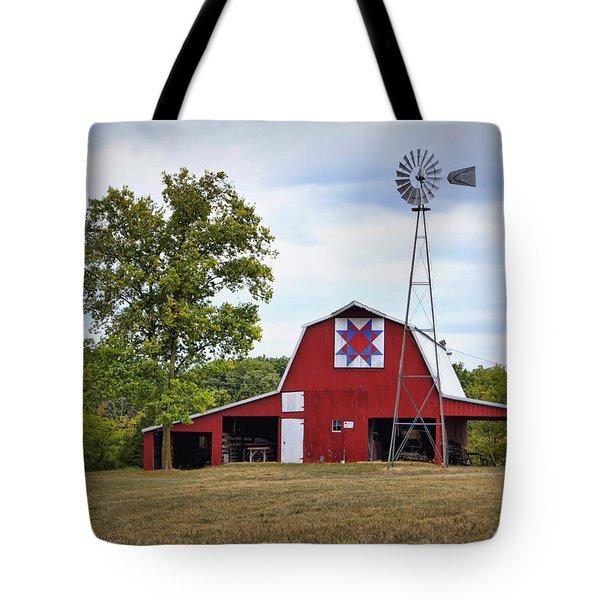 Missouri Star Quilt Barn Tote Bag by Cricket Hackmann
