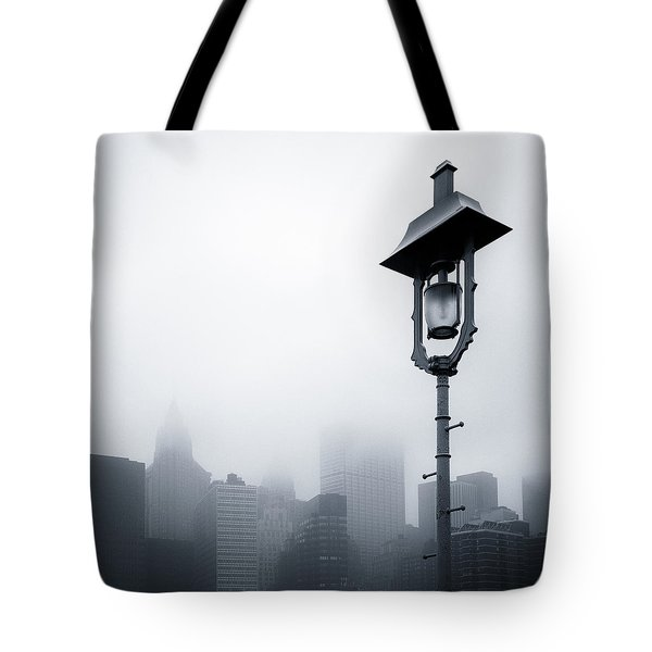 Misty City Tote Bag by Dave Bowman