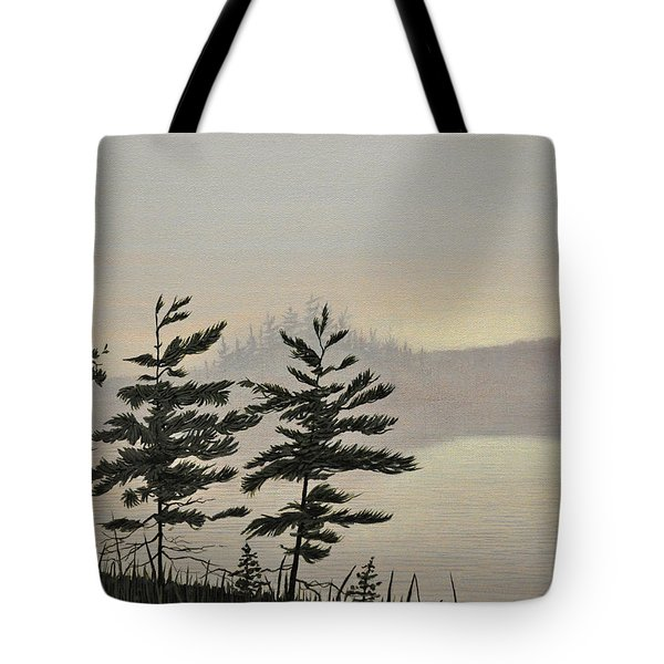 Misty Lake Tote Bag by Kenneth M  Kirsch