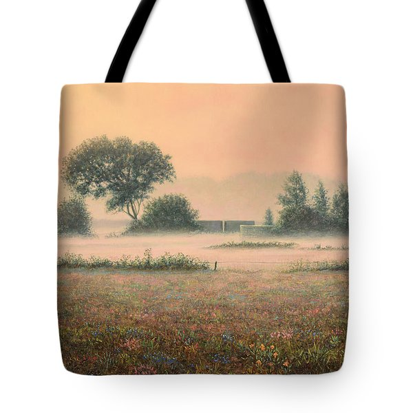 Misty Morning Tote Bag by James W Johnson
