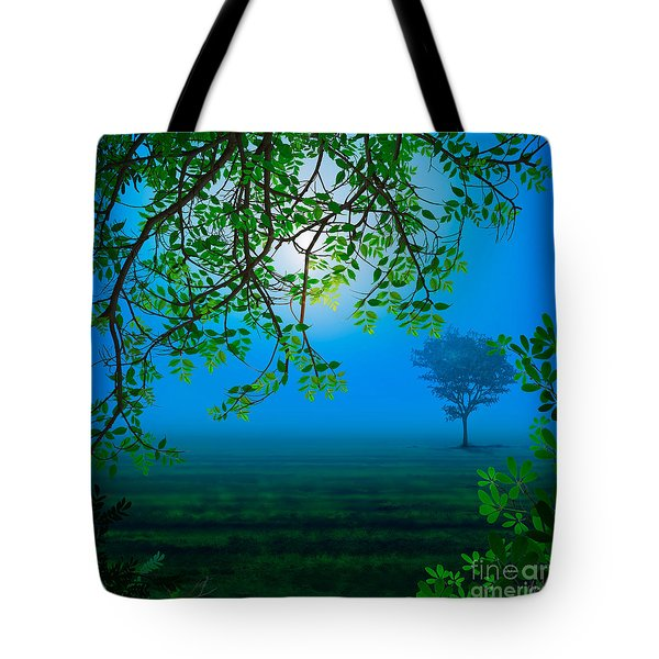 Misty Night Tote Bag by Bedros Awak