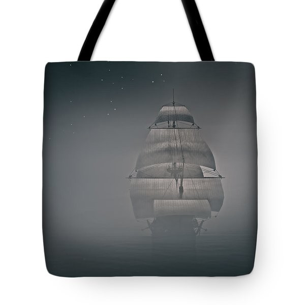 Misty Sail Tote Bag by Lourry Legarde