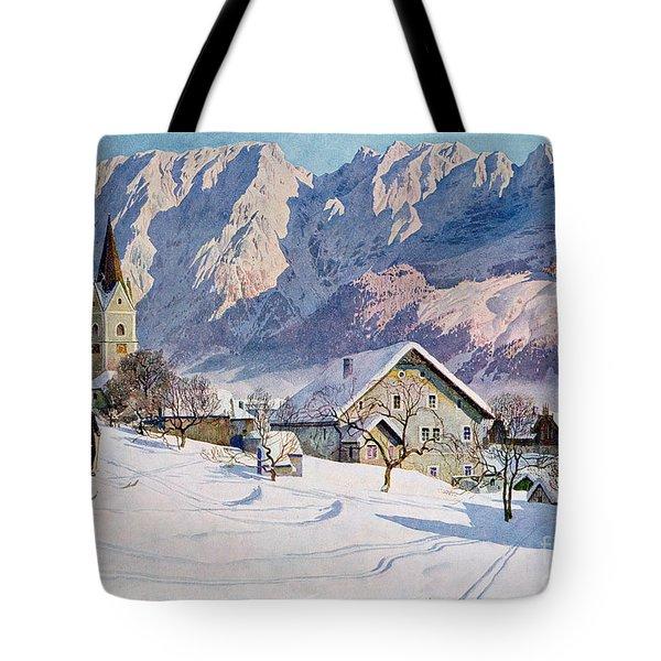 Mitterndorf In Austria Tote Bag by Gustave Jahn