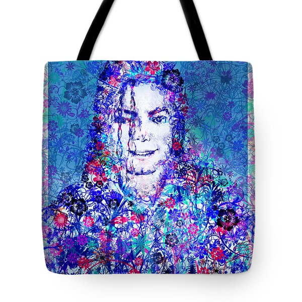 Mj Floral Version 2 Tote Bag by MB Art factory