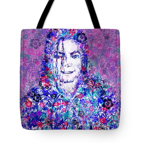 Mj Floral Version Tote Bag by Bekim Art