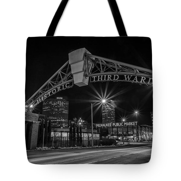 Mke Third Ward Tote Bag by CJ Schmit