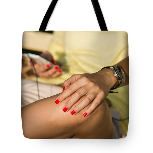 Mobile Phone - Featured 3 Tote Bag by Alexander Senin
