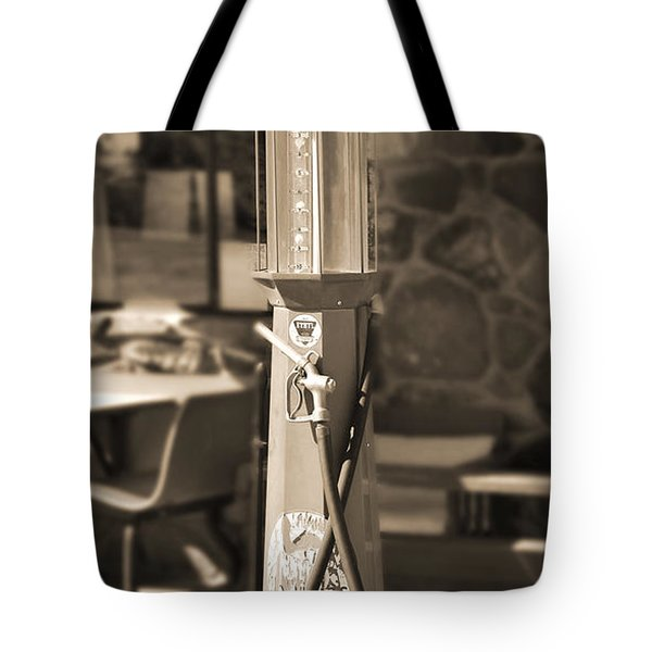 Mobilgas Visible Gas Pump 2 Tote Bag by Mike McGlothlen