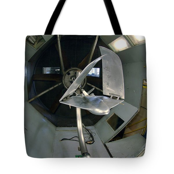 Tote Bag featuring the photograph Model Airplane In Wind Tunnel by Science Source