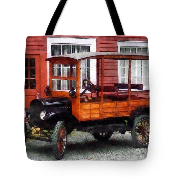 Model T Station Wagon Tote Bag by Susan Savad