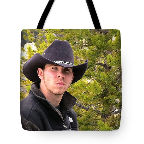 Modern Day Cowboy Tote Bag by Thomas Woolworth
