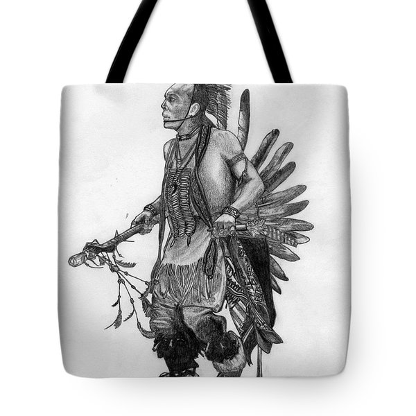 Mohawk Dancer Tote Bag by Lew Davis