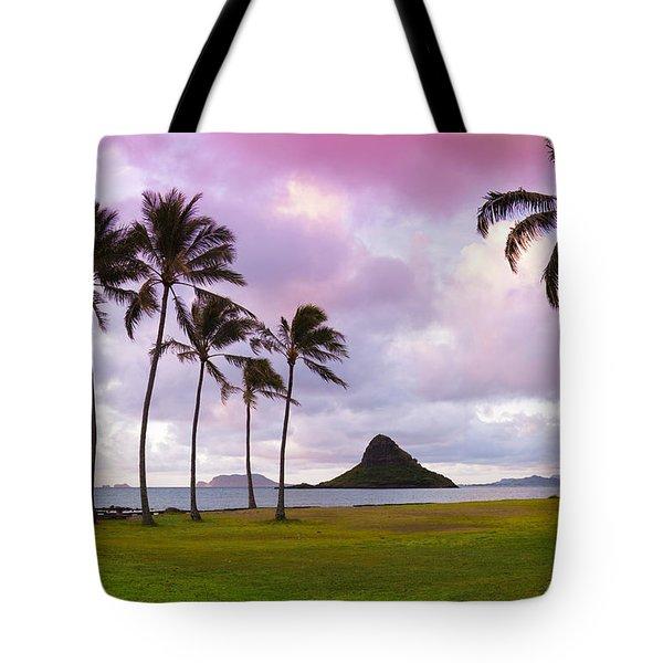 Mokolii Palms Tote Bag by Sean Davey