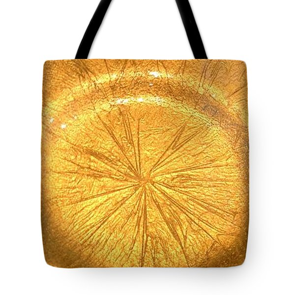 Molten Gold Bowl Sculpture Tote Bag by Rick Silas