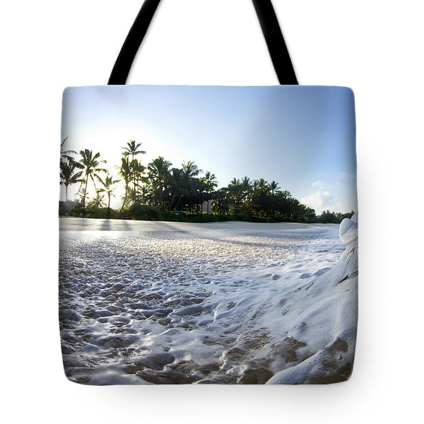 Momentary Foam Creation Tote Bag by Sean Davey
