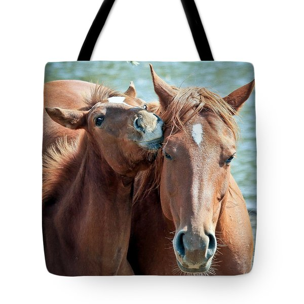 Mommy And Me Tote Bag by Athena Mckinzie