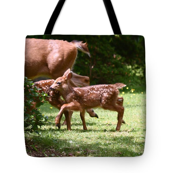 Mommy Is Here Time To Run Tote Bag by Kym Backland