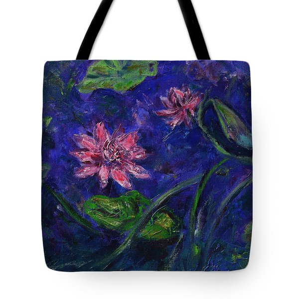 Monet's Lily Pond II Tote Bag by Xueling Zou