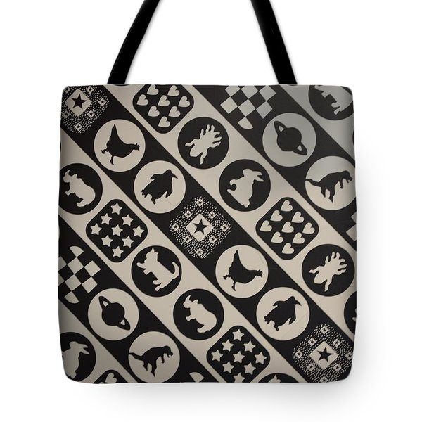 Monochrome Mosaic Tote Bag by Sonali Gangane