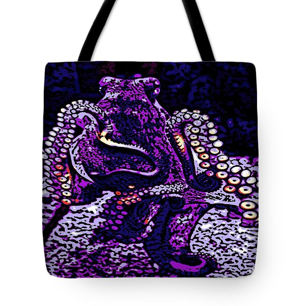 Monster Of The Deep Tote Bag by George Pedro