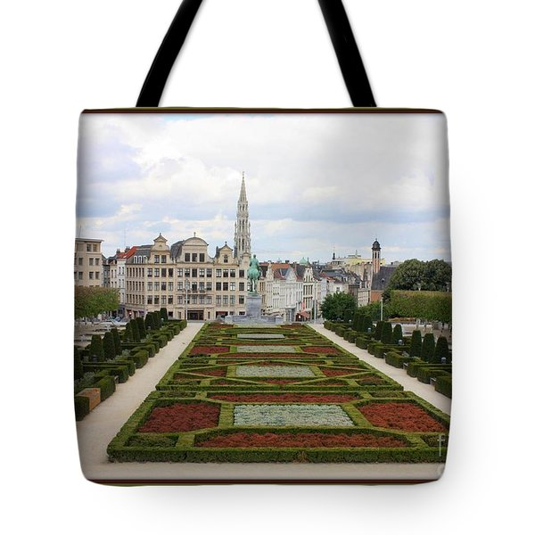Mont des Arts towards the Grand Place Tote Bag by Carol Groenen