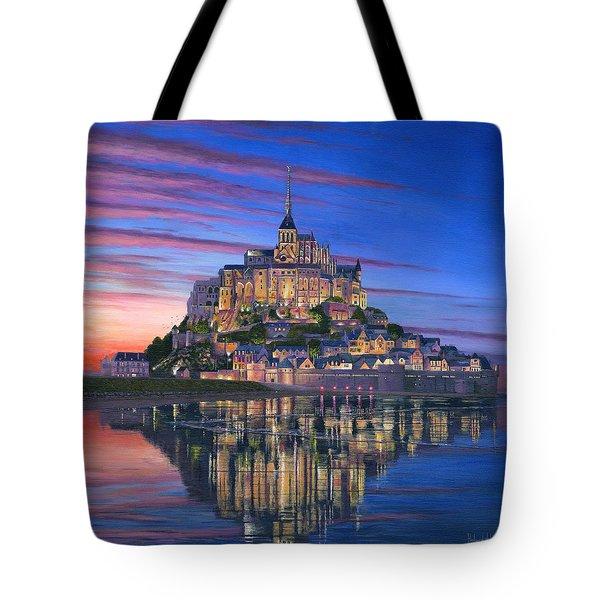 Mont Saint-michel Soir Tote Bag by Richard Harpum