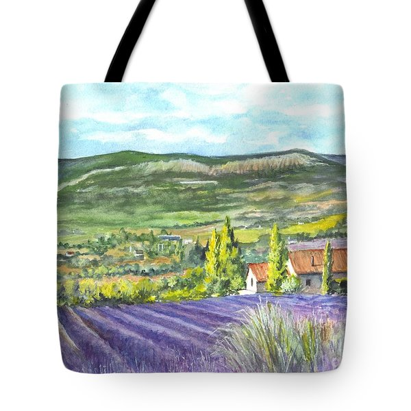 Montagne De Lure In Provence France Tote Bag by Carol Wisniewski