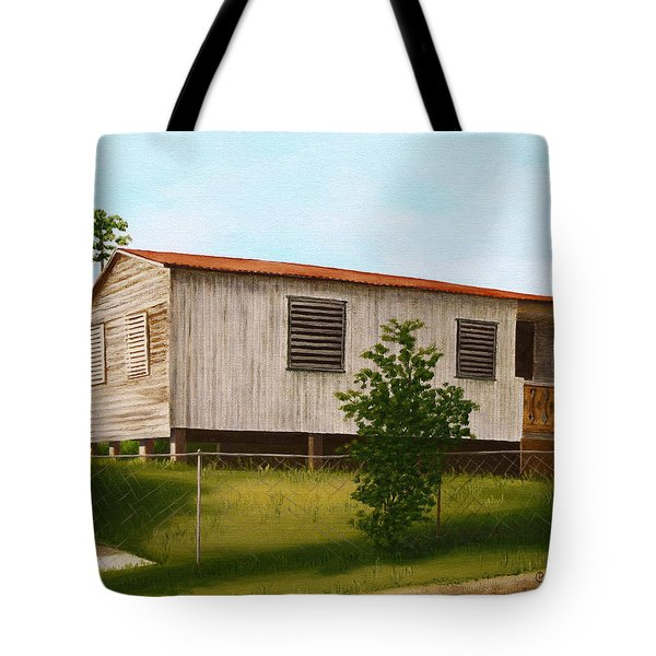 Montalvo Family House - Puerto Rico Tote Bag by Robin Capecci
