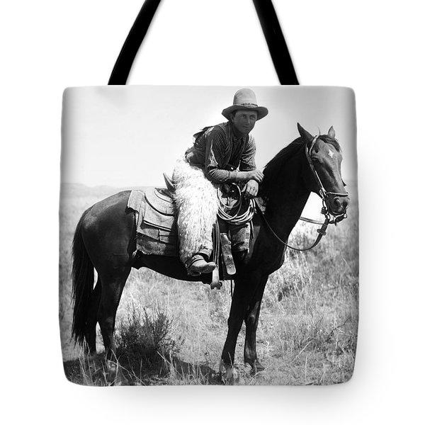Montana Cowboy 1904 Tote Bag by Granger