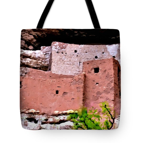 Montezuma Castle  Tote Bag by Bob and Nadine Johnston