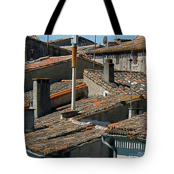 Tile Rooftops of France Tote Bag by FRANCE  ART